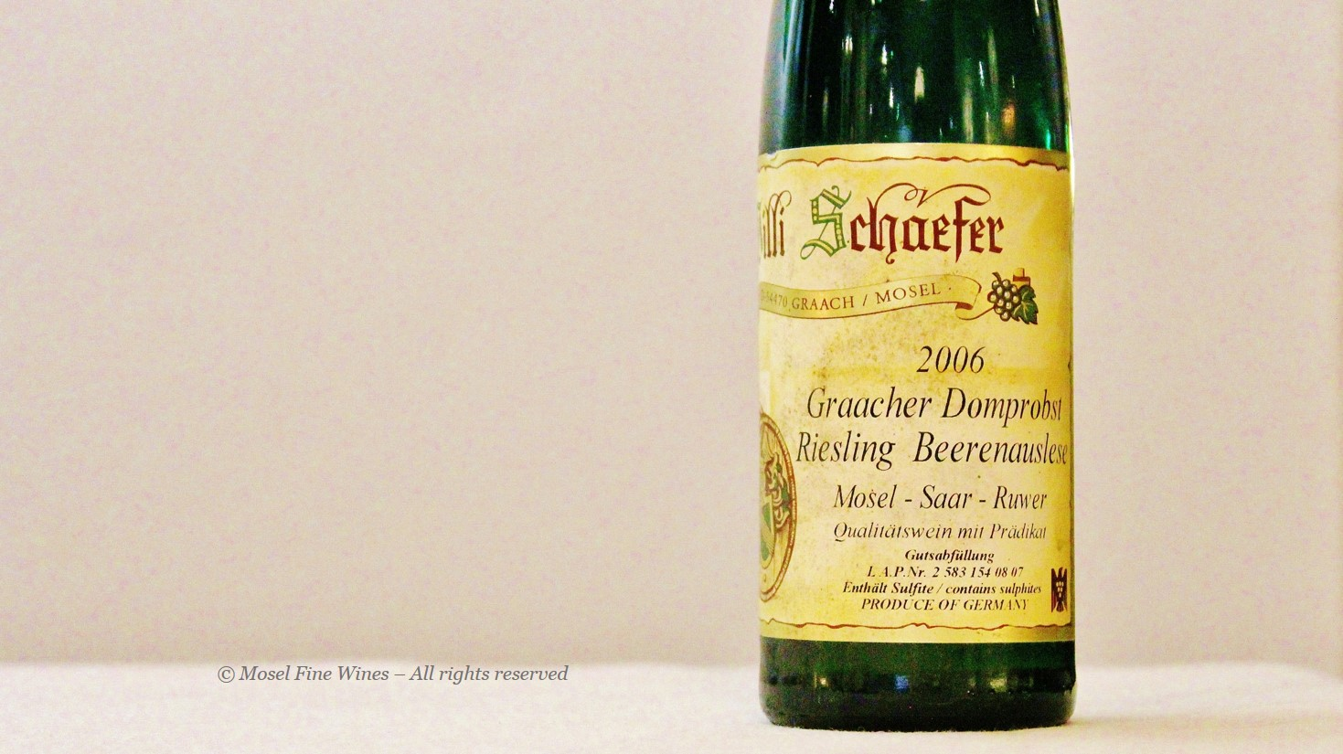 Willi Schaefer | Graacher Domprobst | Label | Picture | Photo