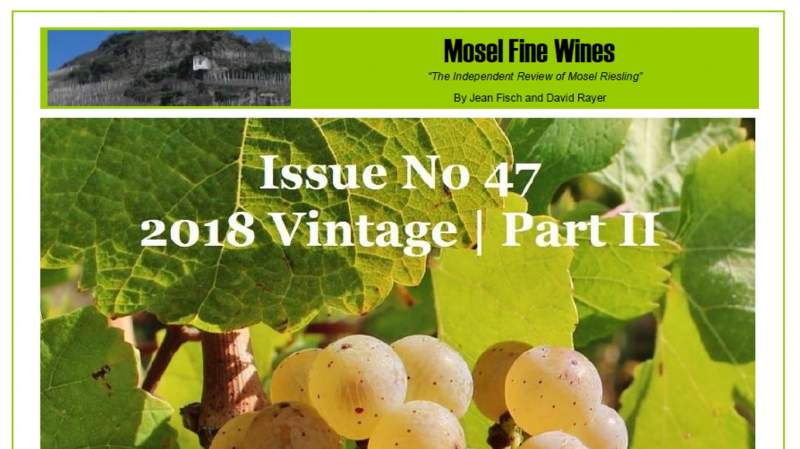 Mosel Fine Wines | Report | 2018 Mosel Vintage