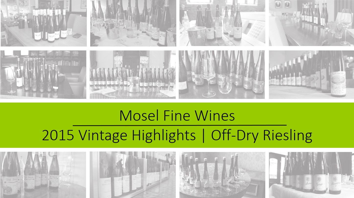 Mosel Vintage 2015 | Off-Dry Riesling Highlights